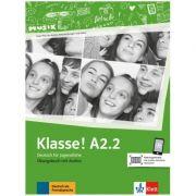 Klasse! A2. 2, Ubungsbuch mit Audios - Sarah Fleer, Ute Koithan, Tanja Mayr-Sieber, Bettina Schwieger imagine librariadelfin.ro