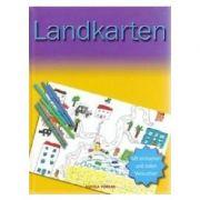 Hartile si cartografierea. In limba Germana imagine librariadelfin.ro