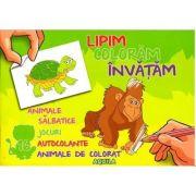 Lipim, coloram, invatam. Animale salbatice imagine librariadelfin.ro