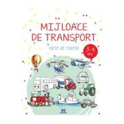 Mijloace de transport. Carte de colorat 3-4 ani imagine librariadelfin.ro