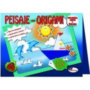 Peisaje. Origami imagine librariadelfin.ro