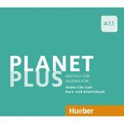Planet Plus A1. 1 2 Audio-CDs zum Kursbuch, 1 Audio-CD zum Arbeitsbuch Deutsch fur Jugendliche - Gabriele Kopp, Josef Alberti, Siegfried Buttner imagine librariadelfin.ro