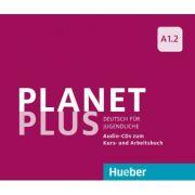 Planet Plus A1. 2 2 Audio-CDs zum Kursbuch, 1 Audio-CD zum Arbeitsbuch Deutsch fur Jugendliche - Gabriele Kopp, Josef Alberti, Siegfried Buttner imagine librariadelfin.ro