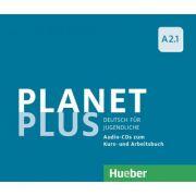 Planet Plus A2. 1 2 Audio-CDs zum Kursbuch, 1 Audio-CD zum Arbeitsbuch Deutsch fur Jugendliche - Gabriele Kopp, Josef Alberti, Siegfried Buttner imagine librariadelfin.ro