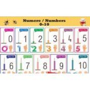 Plansa Numerele de la 0 la 10 imagine librariadelfin.ro