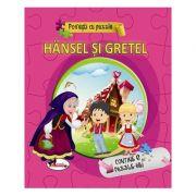 Povesti cu puzzle Hansel si Gretel imagine librariadelfin.ro